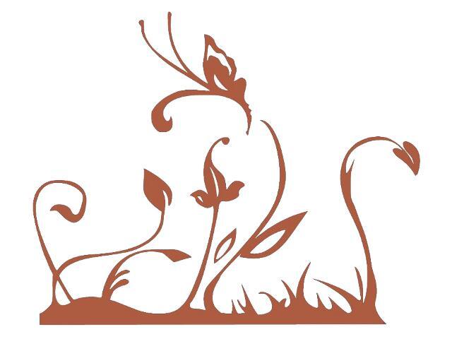 Naklejka dekoracyjna welurowa rośliny 679117-2 Klimaty Domu