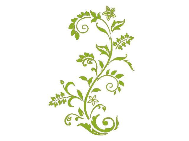 Naklejka dekoracyjna welurowa roślina 679008-5 Klimaty Domu