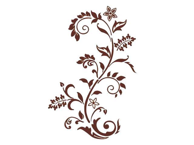 Naklejka dekoracyjna welurowa roślina 679008-17 Klimaty Domu