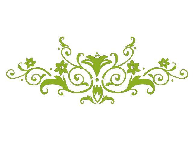 Naklejka dekoracyjna welurowa ornament 679023-5 Klimaty Domu