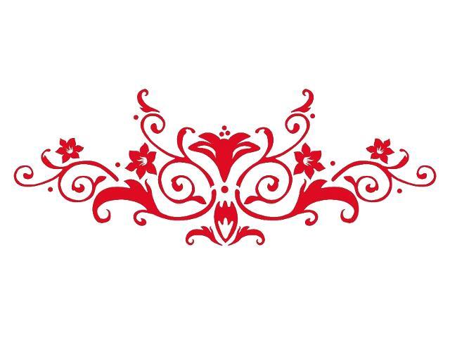 Naklejka dekoracyjna welurowa ornament 679023-6 Klimaty Domu