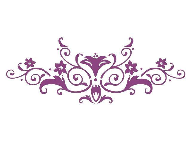 Naklejka dekoracyjna welurowa ornament 679023-16 Klimaty Domu