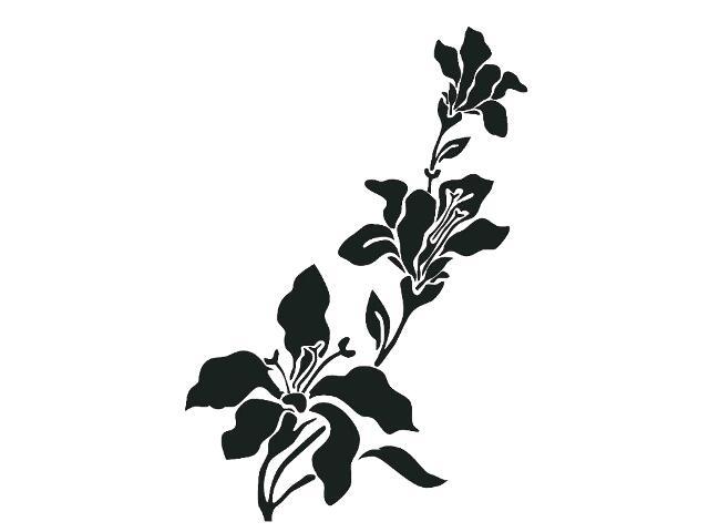 Naklejka dekoracyjna welurowa kwiat 679030-7 Klimaty Domu