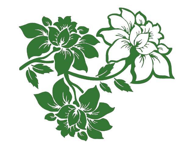 Naklejka dekoracyjna welurowa kwiaty 679056-9 Klimaty Domu