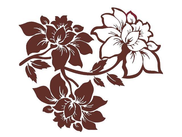 Naklejka dekoracyjna welurowa kwiaty 679056-17 Klimaty Domu