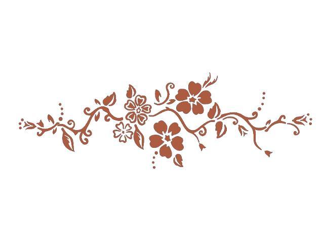 Naklejka dekoracyjna welurowa kwiaty 679043-2 Klimaty Domu