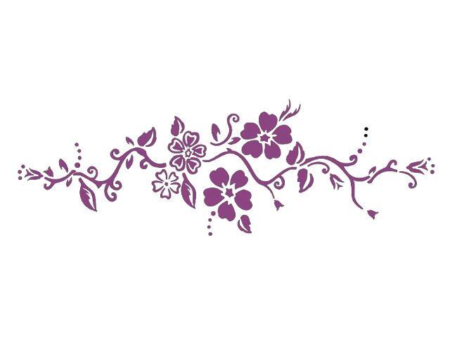 Naklejka dekoracyjna welurowa kwiaty 679043-16 Klimaty Domu