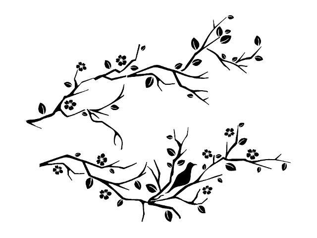 Naklejka dekoracyjna welurowa gałązki 679035-7 Klimaty Domu
