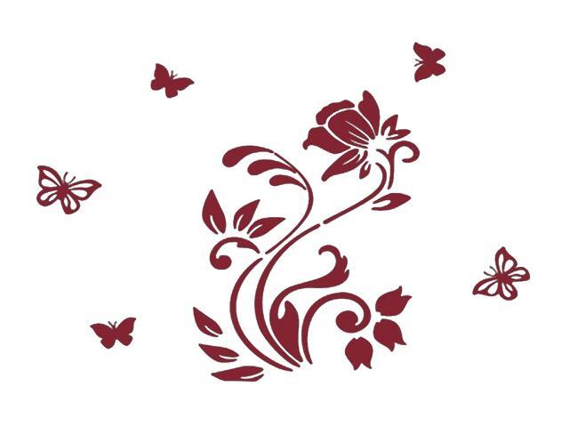 Naklejka dekoracyjna welurowa roślina 678101-11 Klimaty Domu