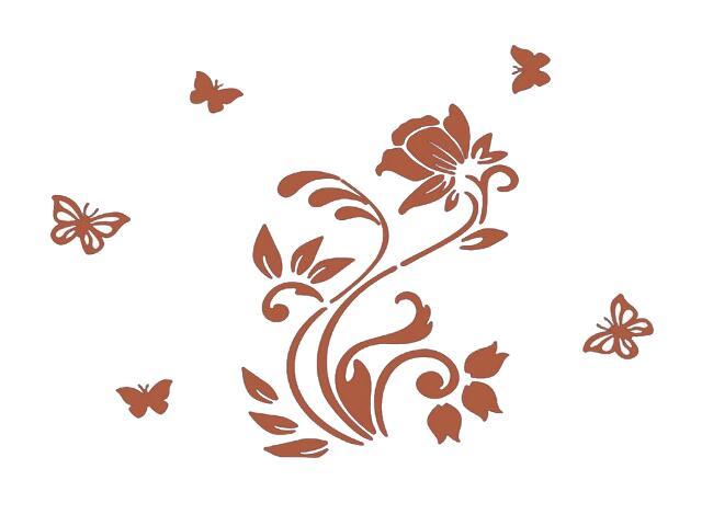 Naklejka dekoracyjna welurowa roślina 678102-2 Klimaty Domu
