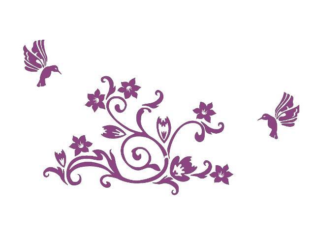 Naklejka dekoracyjna welurowa roślina 678104-16 Klimaty Domu