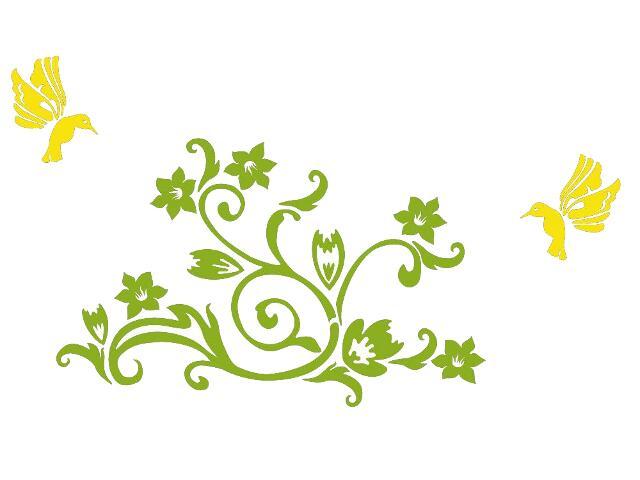 Naklejka dekoracyjna welurowa roślina 678105-00 Klimaty Domu