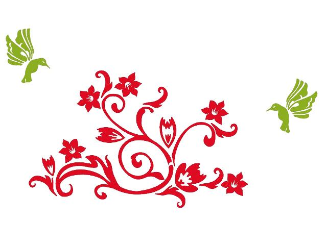 Naklejka dekoracyjna welurowa roślina 678106-00 Klimaty Domu
