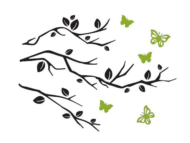 Naklejka dekoracyjna welurowa gałązki 678108-00 Klimaty Domu