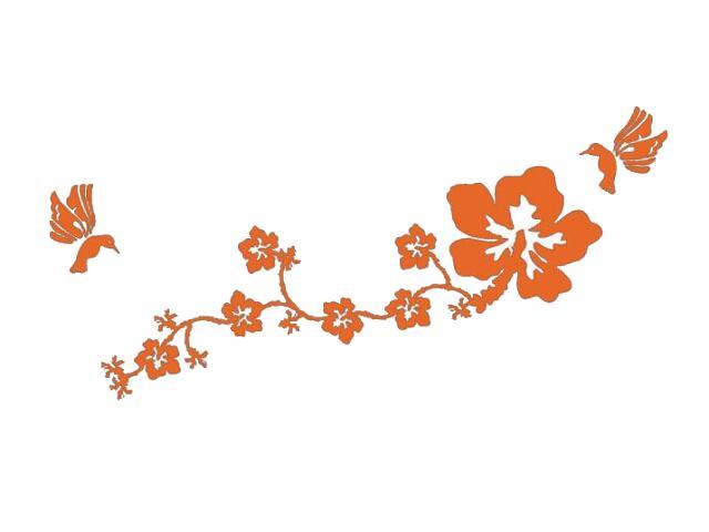 Naklejka dekoracyjna welurowa kwiaty 678110-1 Klimaty Domu