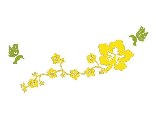 Naklejka dekoracyjna welurowa kwiaty 678111-00 Klimaty Domu