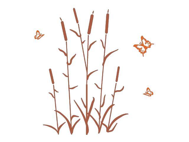 Naklejka dekoracyjna welurowa rośliny 678115-00 Klimaty Domu