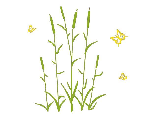 Naklejka dekoracyjna welurowa rośliny 678116-00 Klimaty Domu