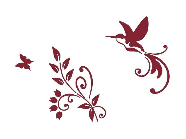 Naklejka dekoracyjna welurowa ptak 678118-11 Klimaty Domu