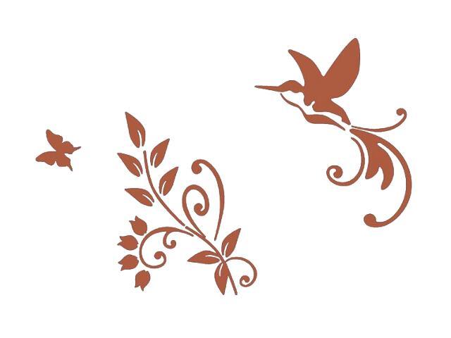 Naklejka dekoracyjna welurowa ptak 678119-2 Klimaty Domu