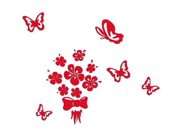 Naklejka dekoracyjna welurowa kwiaty 678122-6 Klimaty Domu