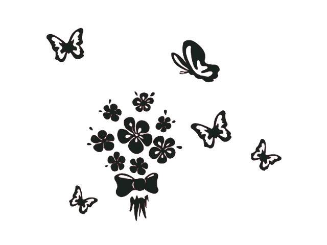 Naklejka dekoracyjna welurowa kwiaty 678123-7 Klimaty Domu