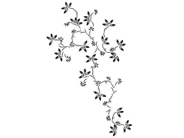 Naklejka dekoracyjna welurowa kwiaty 679318-7 Klimaty Domu