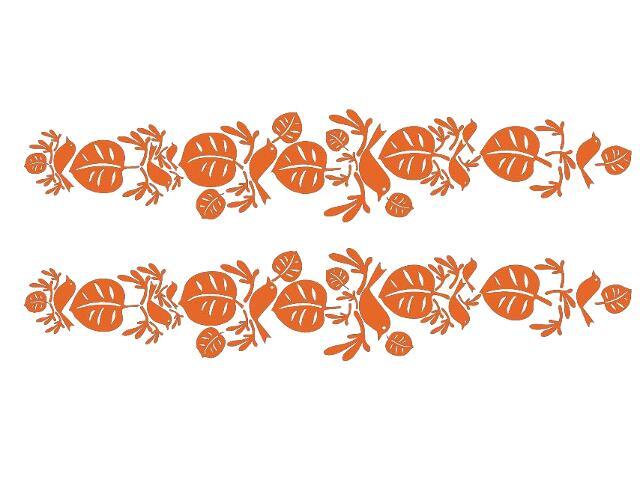 Naklejka dekoracyjna welurowa liście 679320-1 Klimaty Domu