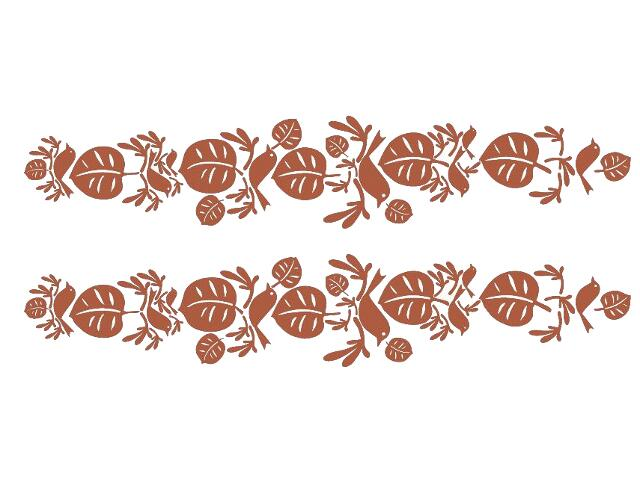 Naklejka dekoracyjna welurowa liście 679322-2 Klimaty Domu
