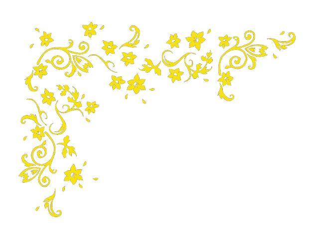 Naklejka dekoracyjna welurowa kwiaty 679327-3 Klimaty Domu