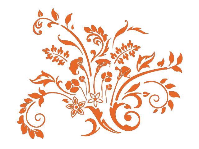 Naklejka dekoracyjna welurowa kwiaty 679332-1 Klimaty Domu