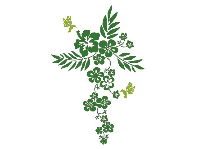 Naklejka dekoracyjna welurowa kwiaty 679345-00 Klimaty Domu