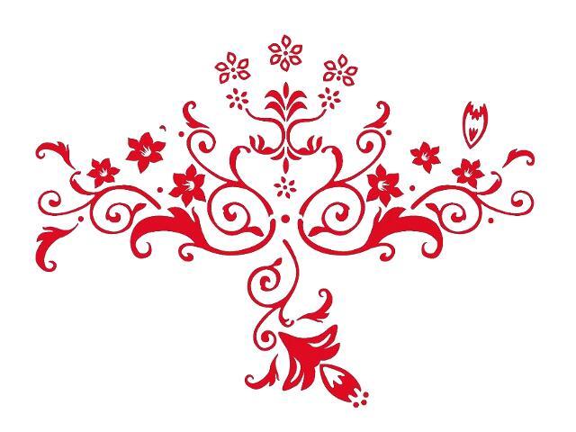 Naklejka dekoracyjna welurowa kwiaty 679347-6 Klimaty Domu