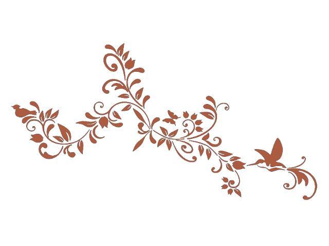 Naklejka dekoracyjna welurowa kwiaty 679349-2 Klimaty Domu