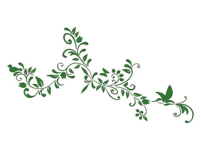 Naklejka dekoracyjna welurowa kwiaty 679350-9 Klimaty Domu