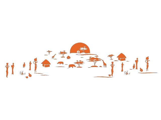 Naklejka dekoracyjna welurowa zachód słońca 679356-1 Klimaty Domu
