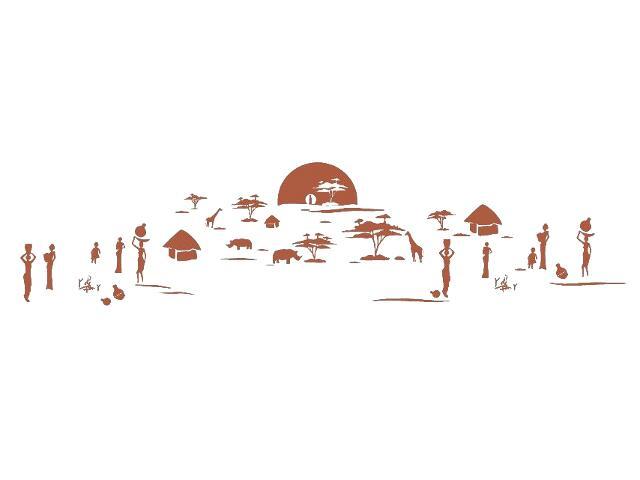Naklejka dekoracyjna welurowa zachód słońca 679357-2 Klimaty Domu