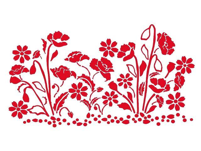Naklejka dekoracyjna welurowa kwiaty 679360-6 Klimaty Domu