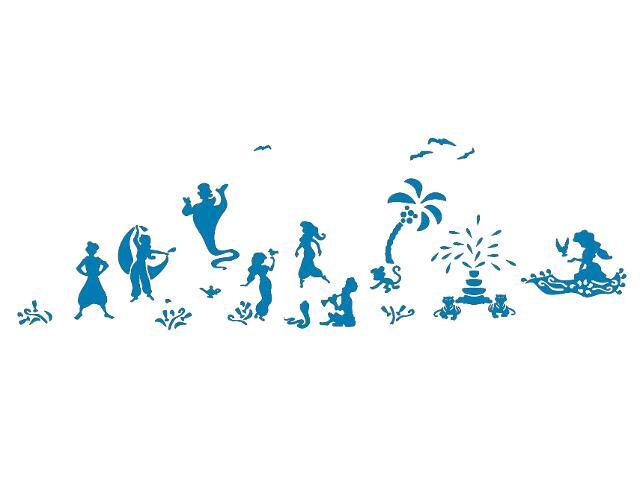 Naklejka dekoracyjna welurowa bajkowy świat 679362-4 Klimaty Domu