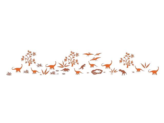Naklejka dekoracyjna welurowa dinozaury 679377-00 Klimaty Domu