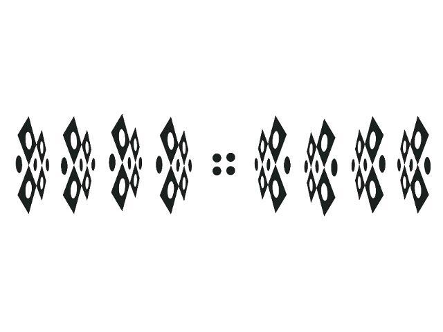 Naklejka dekoracyjna welurowa geometryczna 679383-7 Klimaty Domu