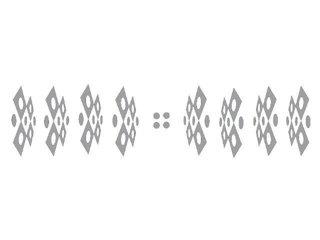 Naklejka dekoracyjna welurowa geometryczna 679384-12 Klimaty Domu
