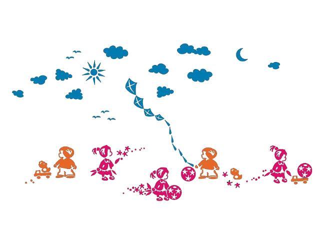 Naklejka dekoracyjna welurowa dzieci 679303-00 Klimaty Domu