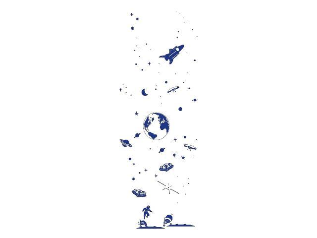 Naklejka dekoracyjna welurowa kosmos 679311-13 Klimaty Domu