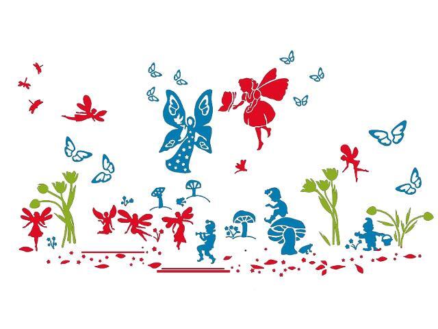 Naklejka dekoracyjna welurowa bajkowy świat 679313-00 Klimaty Domu