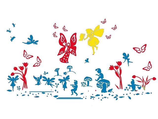Naklejka dekoracyjna welurowa bajkowy świat 679314-00 Klimaty Domu