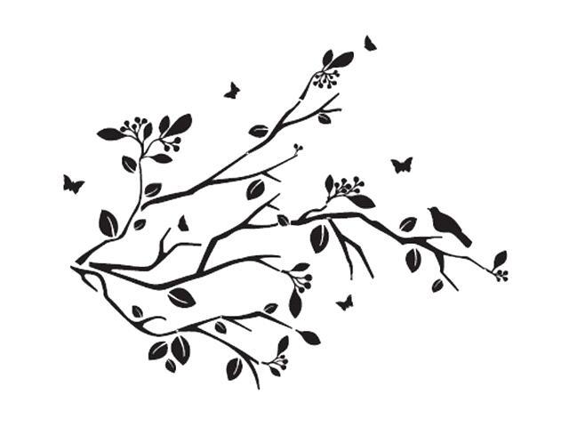 Naklejka dekoracyjna welurowa gałązki 678127-7 Klimaty Domu