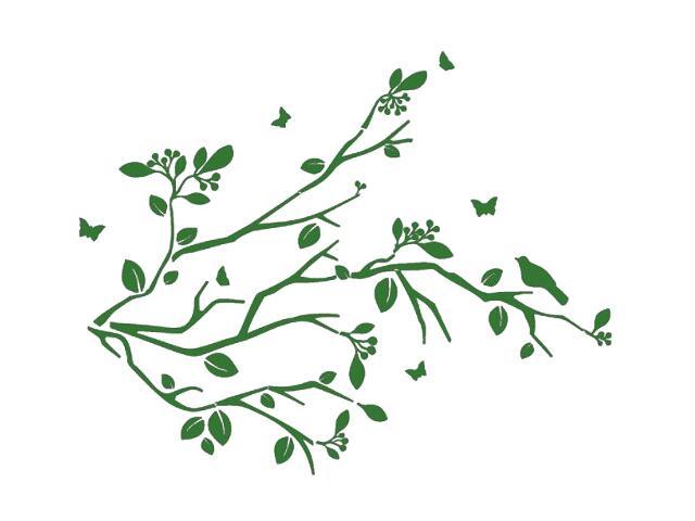 Naklejka dekoracyjna welurowa gałązki 678128-9 Klimaty Domu