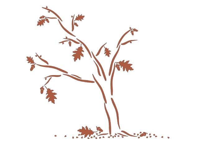 Naklejka dekoracyjna welurowa drzewo 678165-2 Klimaty Domu