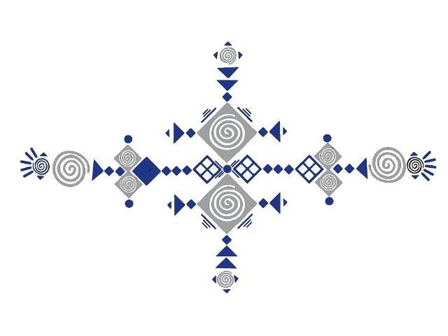 Naklejka dekoracyjna welurowa geometryczna 679395-00 Klimaty Domu